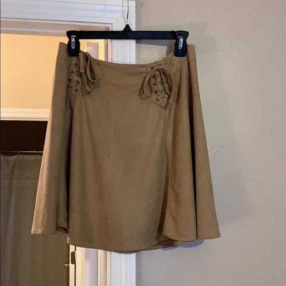 Alya Dresses & Skirts - brown suede skirt